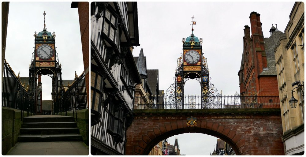 Eastgate Clock in Chester, United Kingdom.