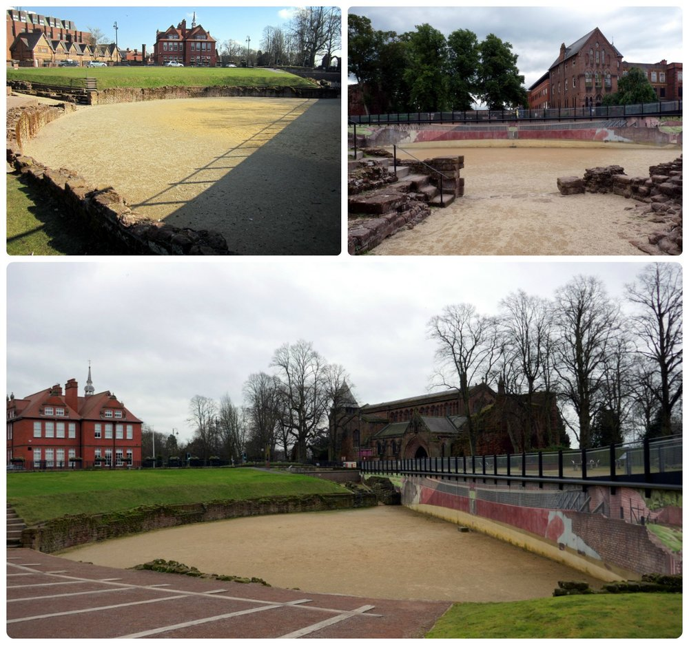 The Roman Amphitheater in Chester, United Kingdom is just one of the many ancient Roman ruins in the city!
