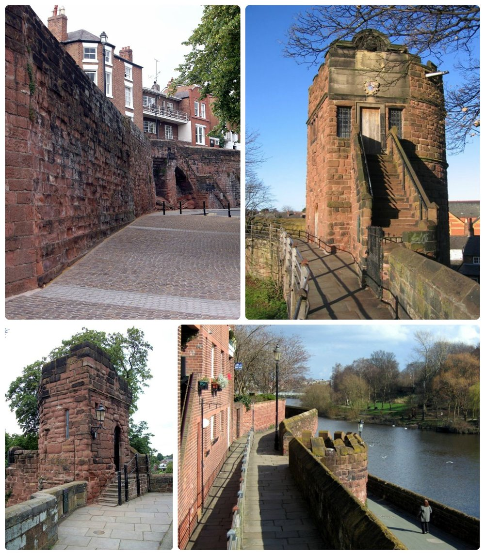 The Walls of Chester are incredibly well preserved. Plus, you can walk nearly the circumference of the city (about 2 miles) atop the wall!