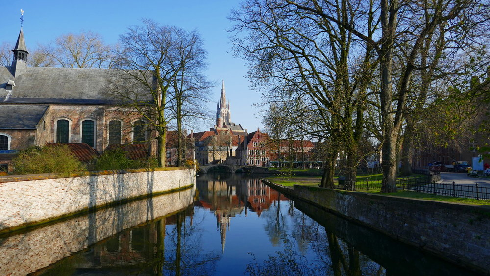 Minnewater Park, Bruges, Belgium