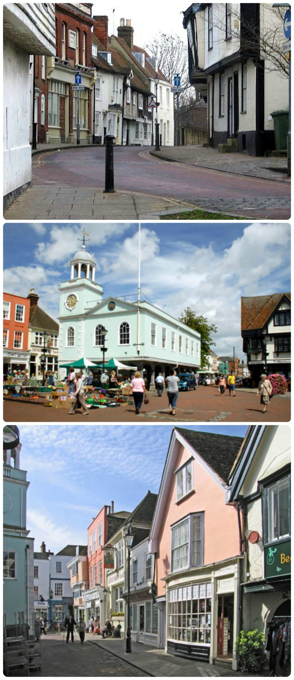 The historical market town, Faversham in the UK.