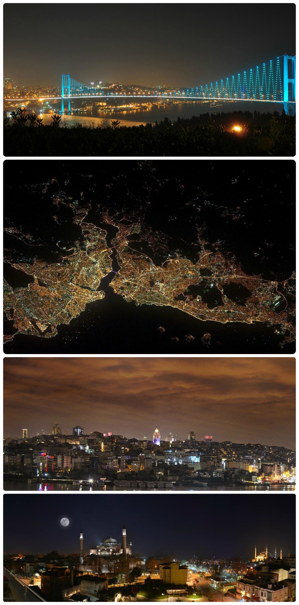 We arrived late and were treated to the beauty of Istanbul at night.
