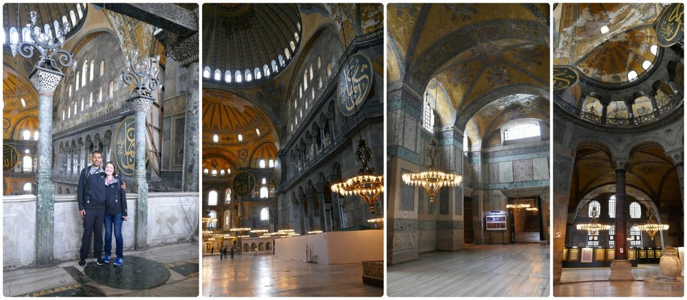 The Hagia Sophia was one of the most beautiful and breath taking buildings we've seen on this entire trip!