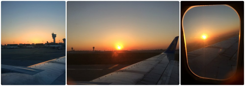 Our saving grace, at least we had a beautiful sunrise during takeoff!