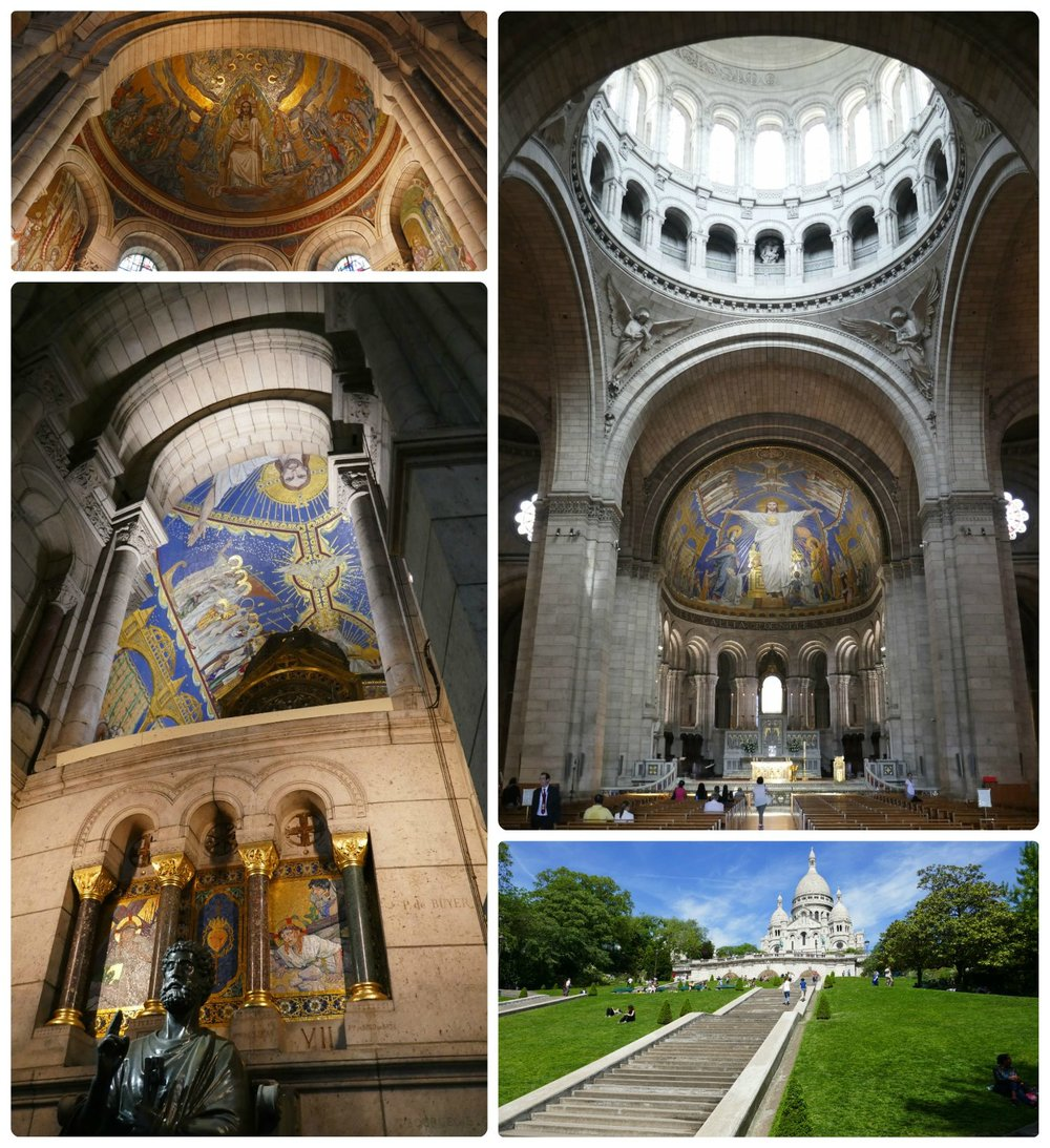 Sacré-Cœur (Basilica of the Sacred Heart of Paris) should be on your Paris itinerary. It's a steep walk to the top (take the frunicular if you prefer), but well worth it. The view over the city, the unique architecture, and the stunning artwork inside the basilica will definitely make your photo album!