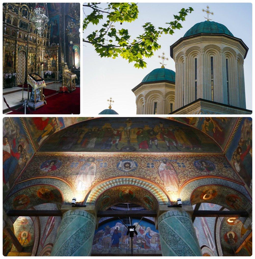To get to Radu Monastery, you'll need to make a short but steep walk up a hill. However, once you enter the monastery, you'll be rewarded with absolutley beautiful murals.