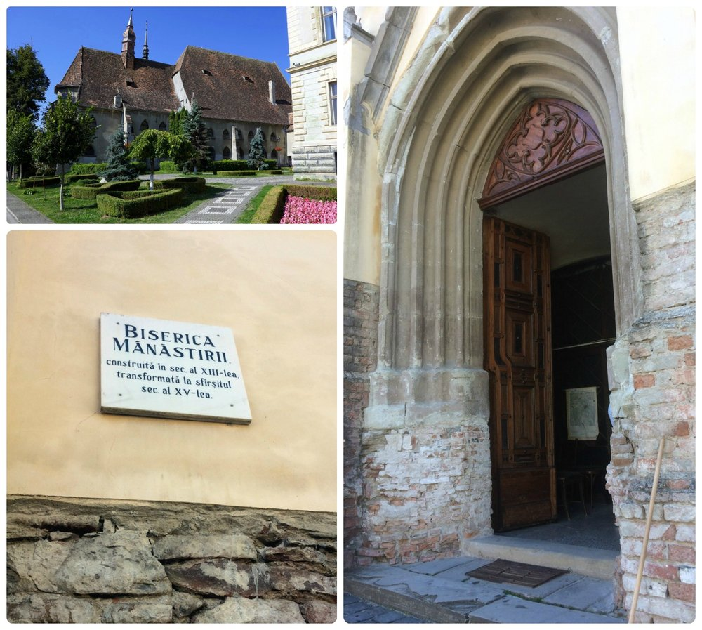 When visiting the Church of the Dominican Monastery (Biserica Mănăstirii Dominicane) be sure to admire the wood carved door and the gardens to the side of the church.