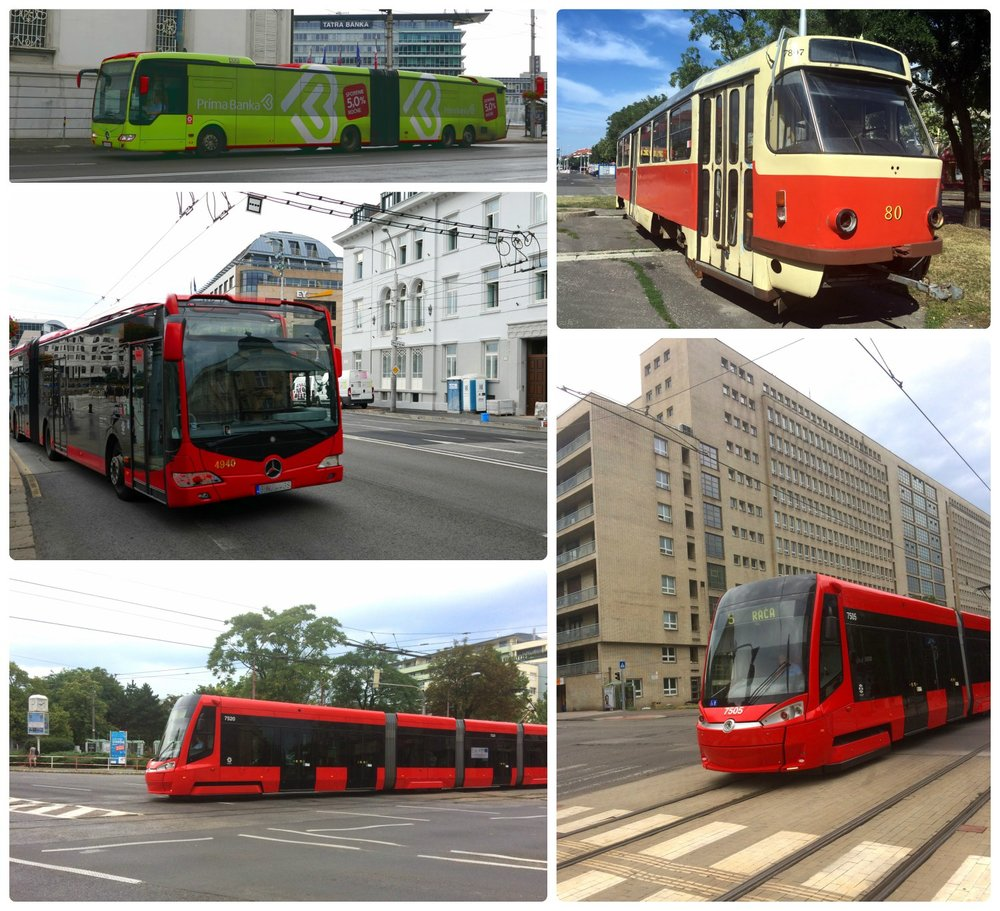 Bratislava public transportation is a network of buses, trams, and trolleybuses.