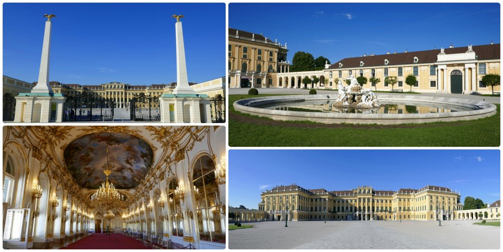From the outside, Schonbrunn Palace is large with a simple exterior design. However, step inside and the ornate interior design will take you by surprise.