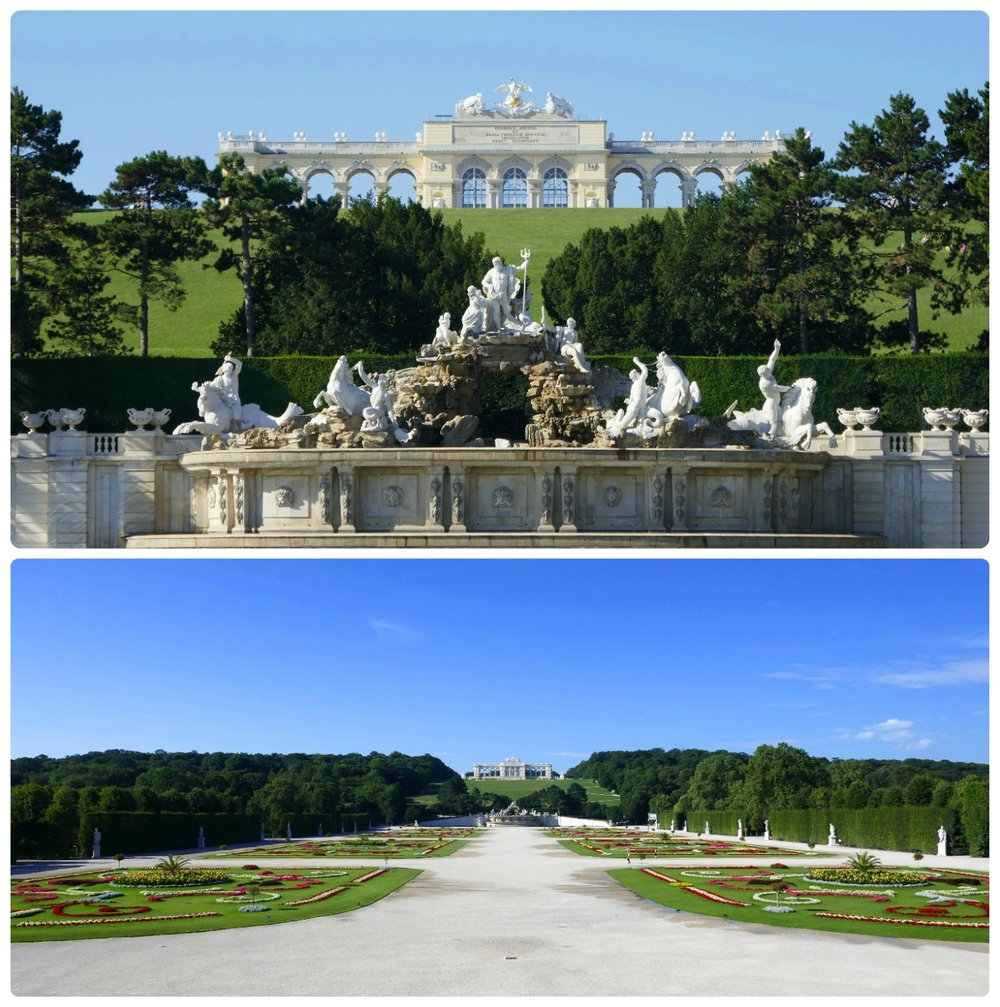 The Gloriette, on the far side of the palace grounds is magnificent. Include the Great Parterre and the Neptune Fountain in your sights and you wont soon forget the view!