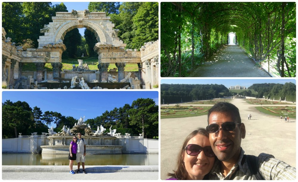 We loved the Schonbrunn Gardens! The Roman Ruin (top left) was beautifully set among the trees, the Neptune fountain was a crowning art piece between the Gloriette and Great Parterre (bottom left).