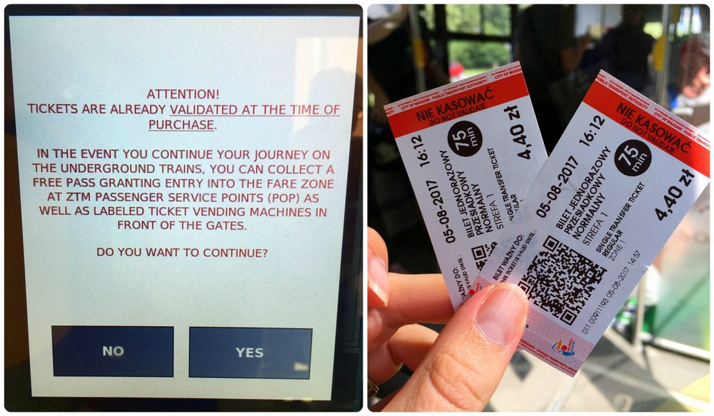 "Tickets bought on the bus are already validated. Before finalizing the purchase, a warning is shown on the ticket machine screen. Once the tickets have been printed, you can see the red stripe that says ""Do Not Validate""."