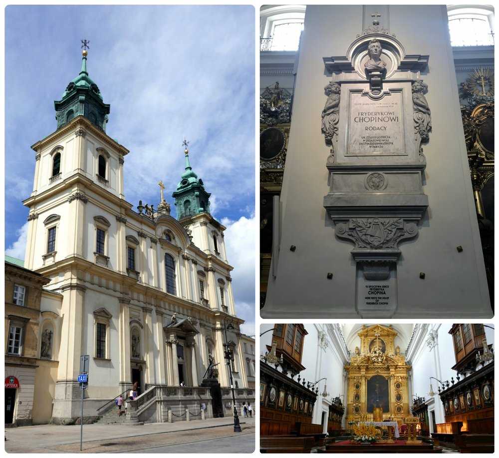 Located on a busy street, Holy Cross Church is where Chopin's heart was put to rest.