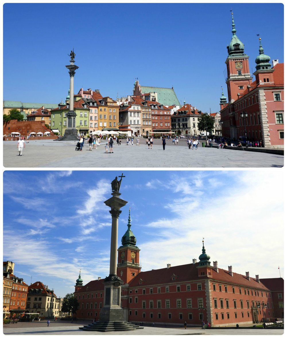 Castle Square is a huge public square in Old Town. In the center is Sigismund's Column and to the side is the Royal castle with it's brick facade and tear drop shaped towers. Don't be fooled if you find it empty in the early morning hours, because by afternoon it's swarming with people!