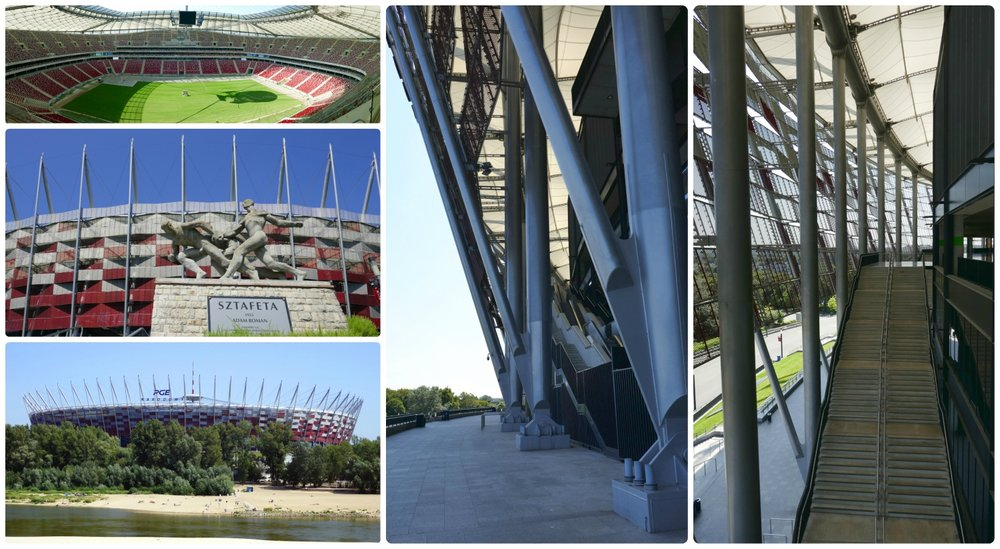 The PGE Narodowy or National Stadium in Warsaw.