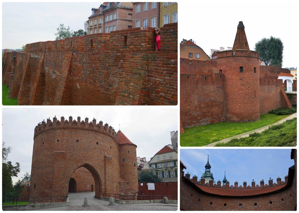 The barbican, or fortification walls in Warsaw. We highly recommend entering old town through the gate to set the mood for the rest of your sightseeing!