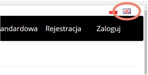 If the page loads in Polish, you can change the language by clicking on the (small) United Kingdom flag in the upper right corner of the page.