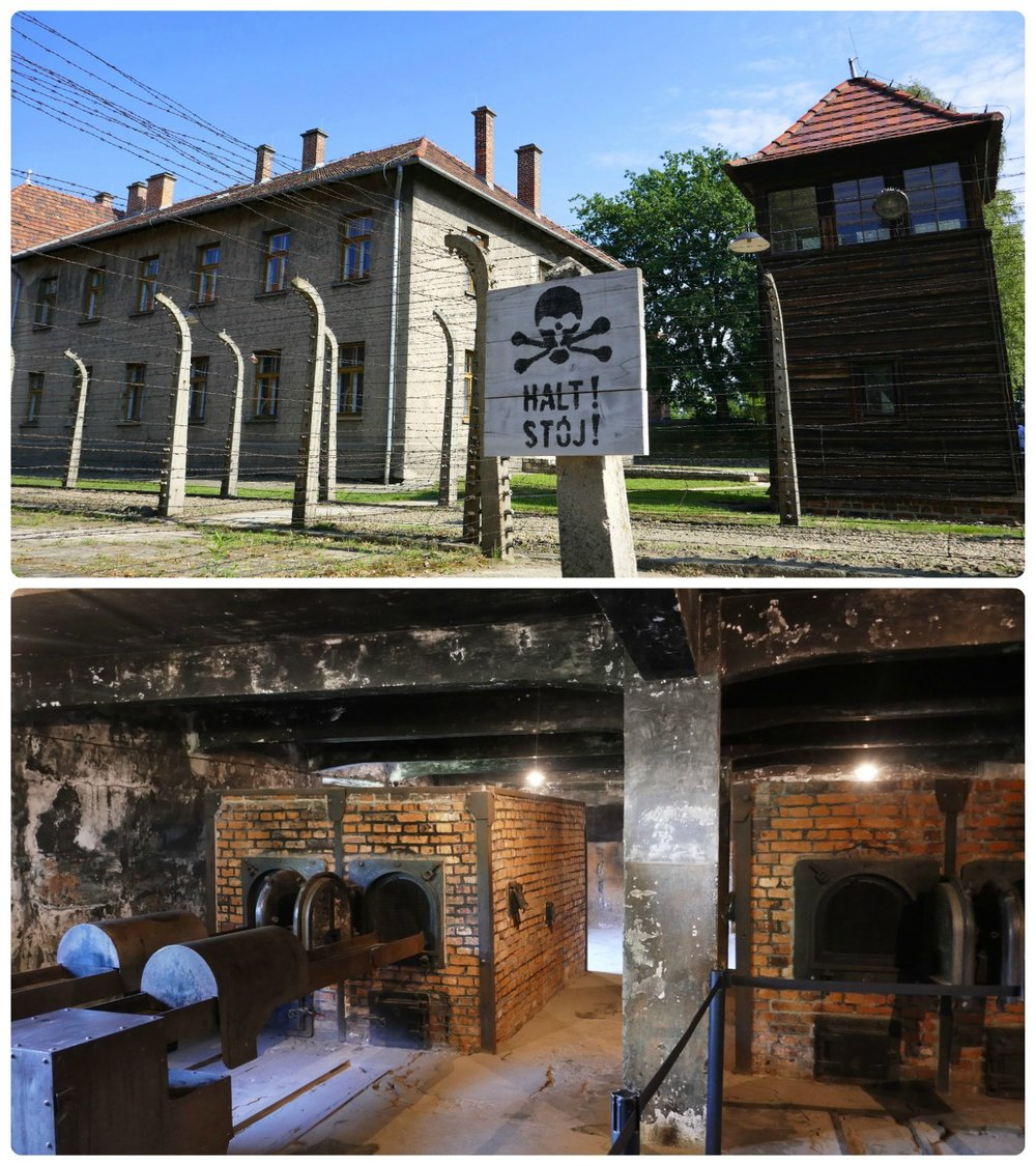 It's asked that all visitors respect the memories of the victims executed at the concentration camp, as well as the other visitors. In particular, when entering the gas chamber (bottom image) silence is requested.