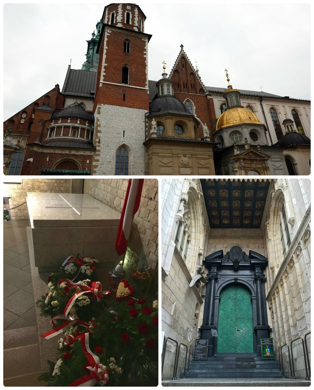 Wawel Cathedral in Krakow, Poland is located in the same area as Wawel Castle, and since both are major tourist attractions, be prepared for lines to get entrance tickets. Walking the grounds and entering the crypt is free for all visitors.