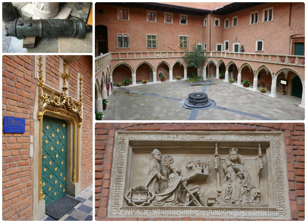 The beauty is in the details! From afar the courtyard of Collegium Maius in Krakow Poland is nice, but take a closer look and you'll fall in love with the artistic details throughout!