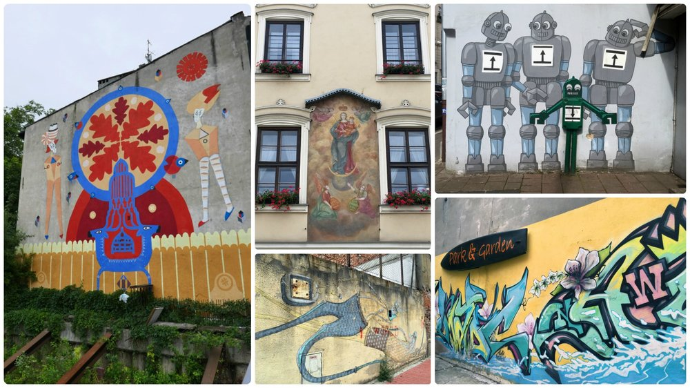 You never know what street art you'll come across in Krakow, Poland!