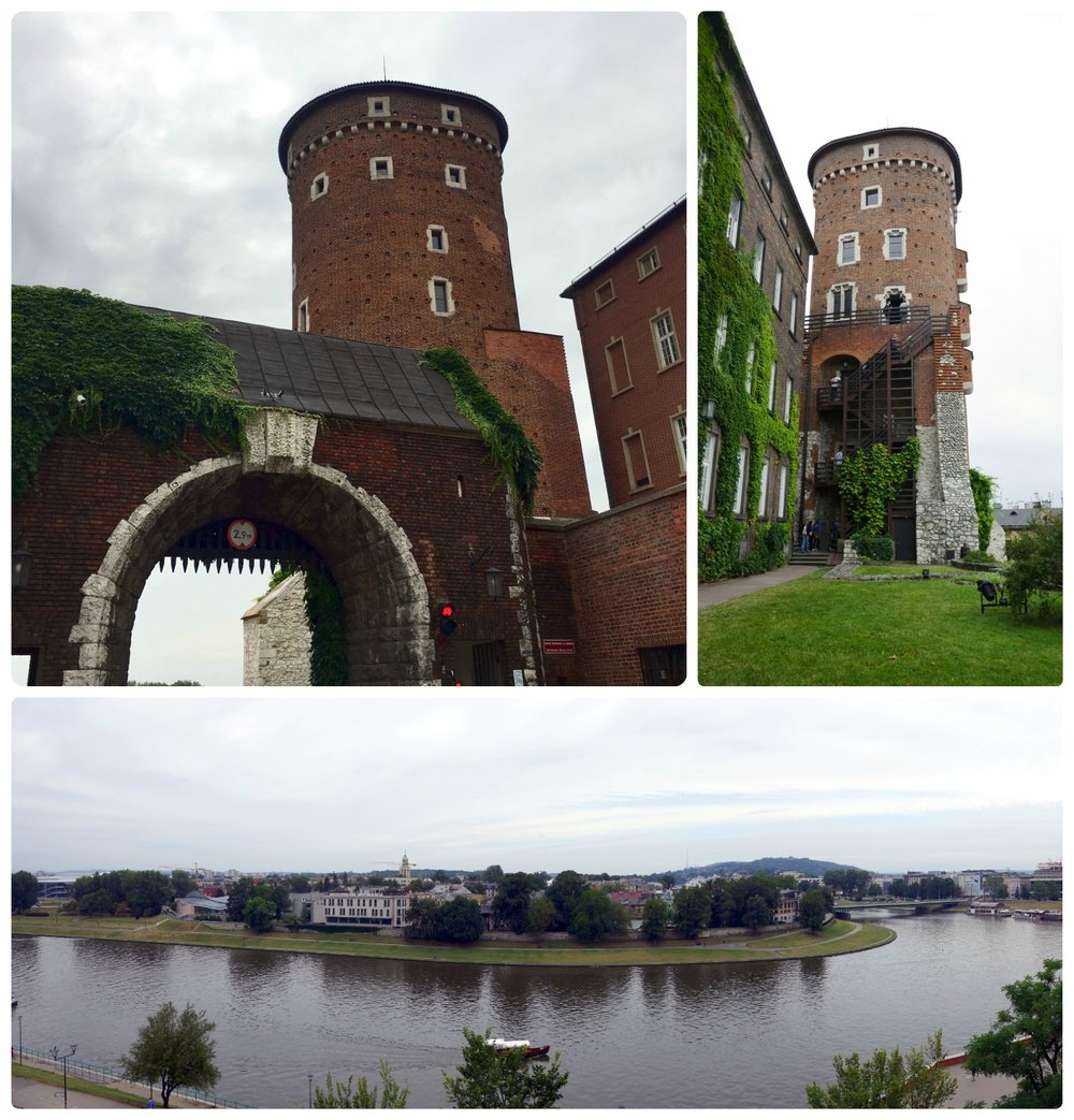 On the grounds of Wawel Castle and Wawel Cathedral is Baszta Sandomierska, which is a tower that you can buy tickets to climb to the top and view Krakow, Poland from up above.