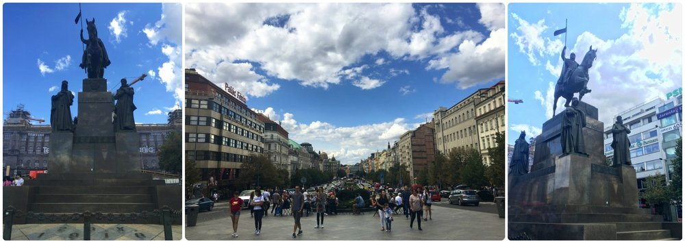 Wenceslas Square is in a more modern part of Prague. It's a great area to explore and see a different side of a city that's famous for it's historic architecture.