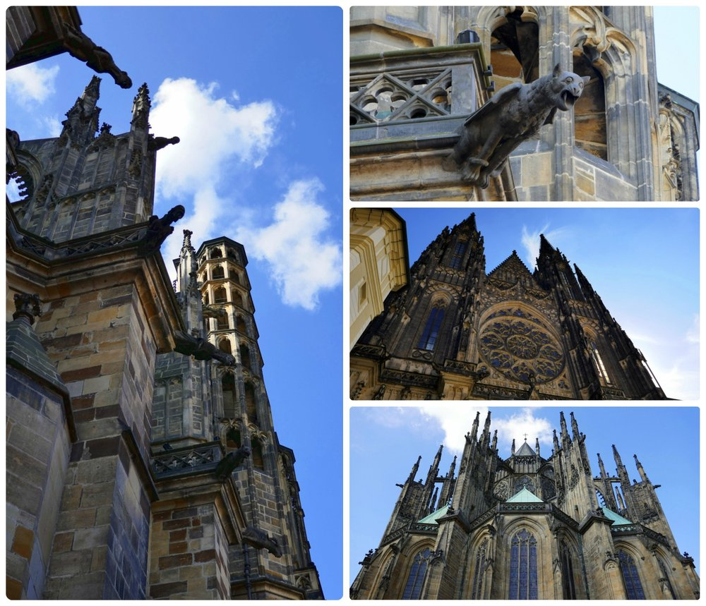 When visiting, keep in mind that you'll need to purchase a ticket to enter Vitus Cathedral and that during worship services, the cathedral is closed to visitors. You can purchase tickets at the Prague Castle ticket office, but if you choose not to enter, there's still magnificent detail on the exterior of the church to enjoy!