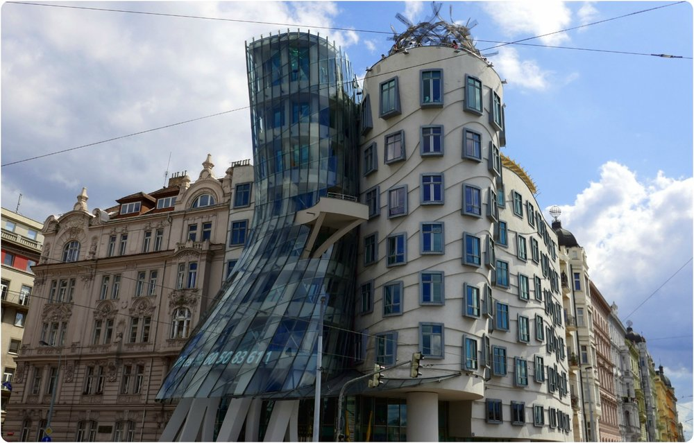 Sitting on the banks of Vltava River, the Dancing House is a modern art piece that's in contrast to the colorful and historic buildings that line the river front. Using our imagination, it wasn't hard to see the building as a couple, dancing in the center of Prague.