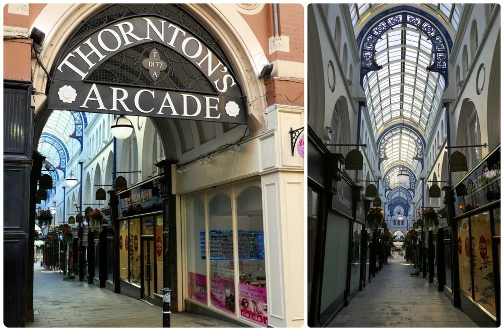 Thorton's Arcade was the second arcade on our tour of Leeds.