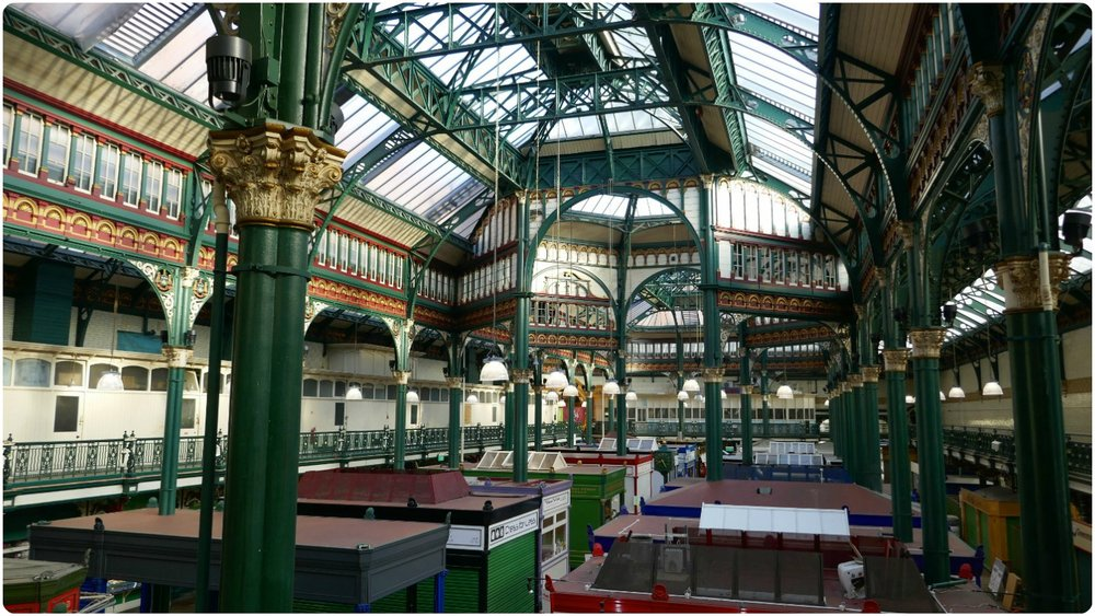 The Victorian design of Kirk Gate Market is stunning. We visited early, just as the shops were setting up for the day. In the calm of the early morning it wasn't hard to use our imaginations and step back in time!