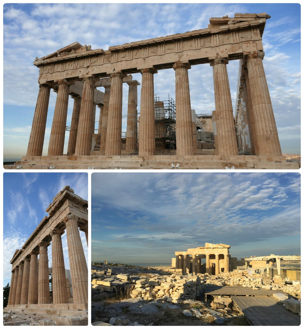 It's an amazing experience to be at the top of the Acropolis of Athens and see the Parthenon, but seeing it in the calm of the morning is indescribable!