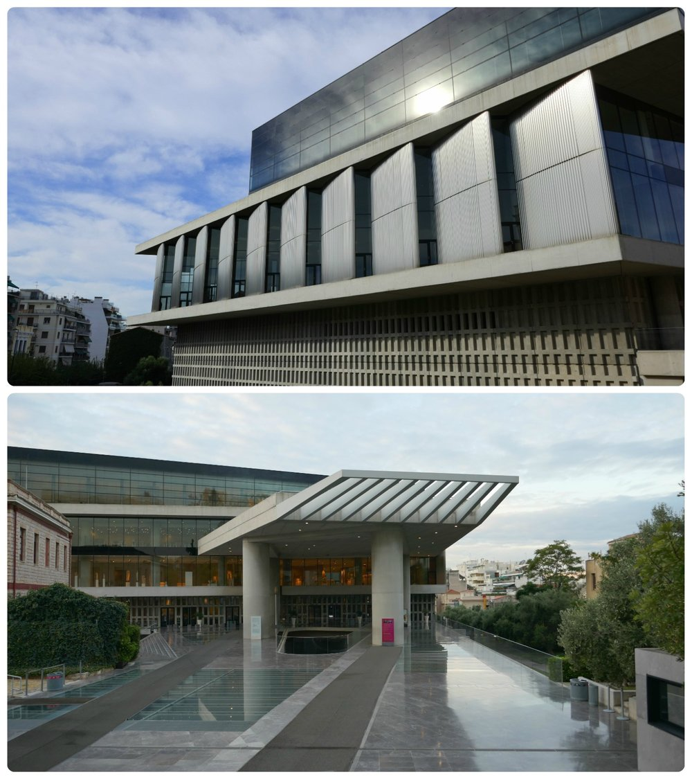 The modern architectural design of the Acropolis Museum, Athens is a smart contrast to the ancient artifacts that are displayed inside.