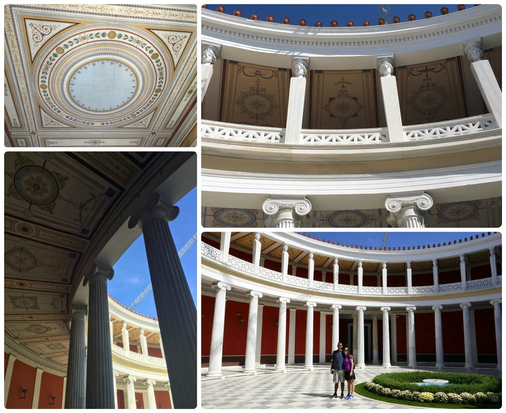 The interior courtyard of Zappeion Hall is stunning and the details on the ceilings are impressive!