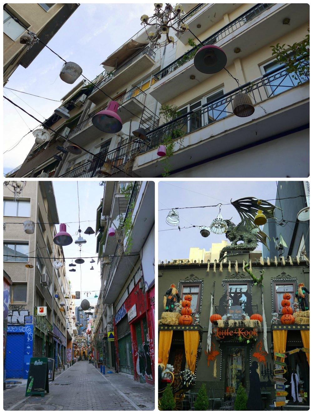 Pittaki Street in Athens is such a fun street to walk; the expression and influence of the community can be seen in each and every lamp!