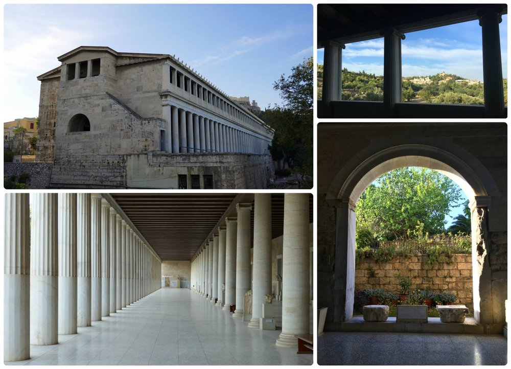 Stoa of Attalos is a large ruin that was re-built and restored in the mid 20th century.