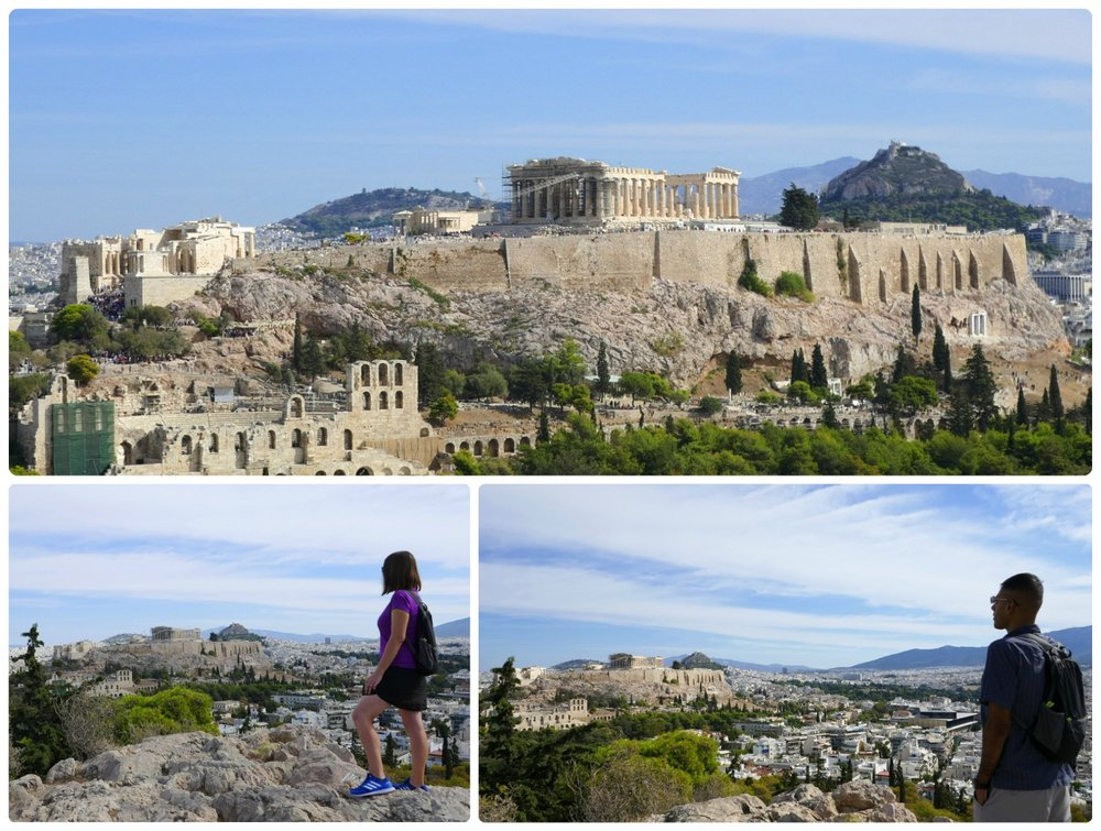 The Acropolis of Athens can be seen from all over the city of Athens, but the top of Pnyx Hill is one of the best viewpoints!