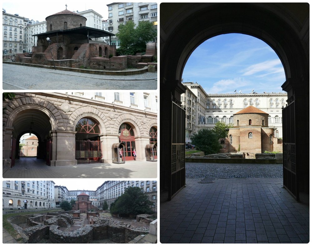 Tucked away in a courtyard within city center Sofia, Bulgaria is Church St. George Rotunda.