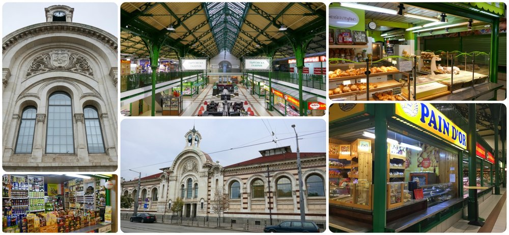 Central Hali Market is located in the center of Sofia, Bulgaria, near the Sofia Central Mineral Baths, the Saint Sofia Monument, and the Serdika Metro Station.