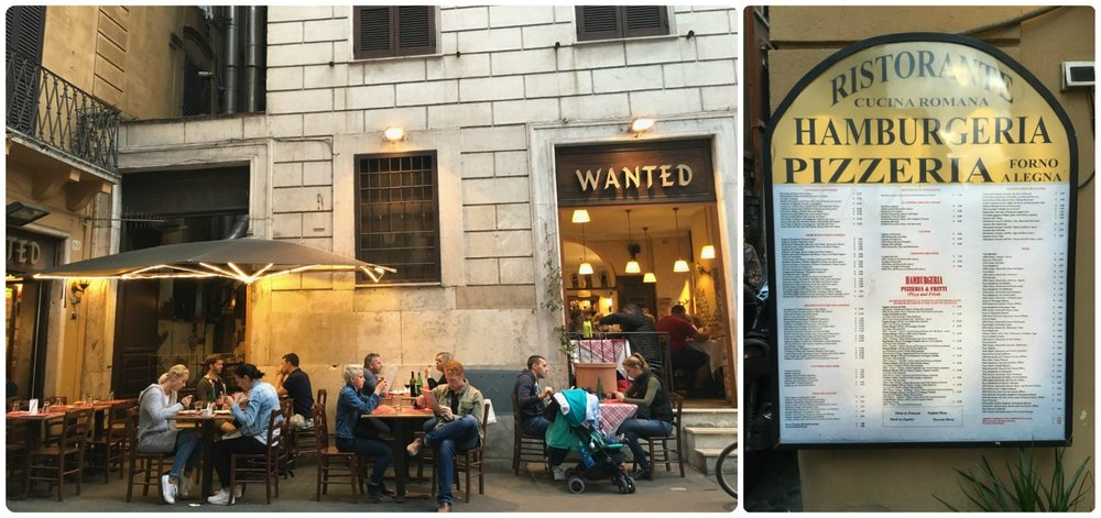 We walked along Via Leonina until we stopped for dinner at Wanted in Rome, Italy.