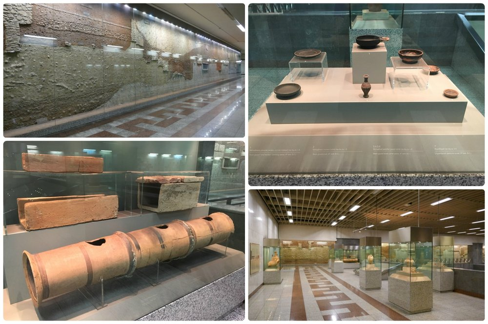 There are a large variety of artifacts on display at Syntagma Square Metro Station, some date back as far as the seventh century BCE!