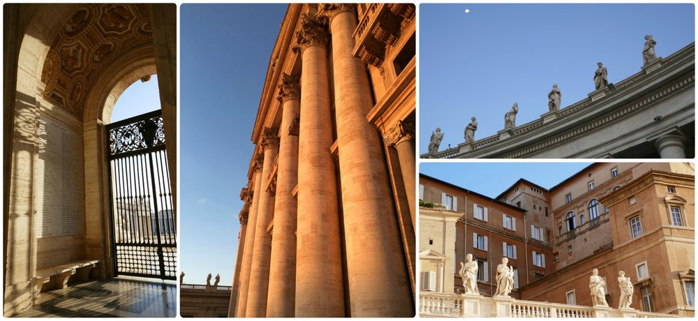The early morning sun shining on Vatican City State and St. Peter's Basilica is beautiful!