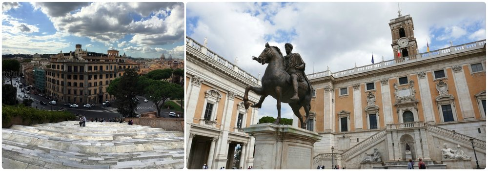 Don't let the stairs at Capitoline Hill in Rome, Italy scare you away from this popular and historic square!