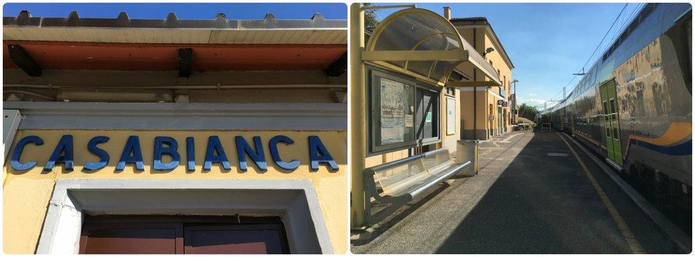 Casabianaca Train Station in Rome, Italy.