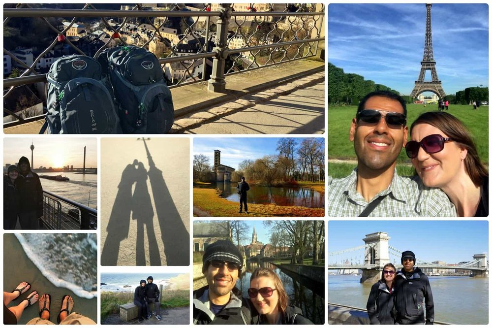 Screw The Average traveling Europe. Images from 1500 Days to Freedom Gratitude Post.