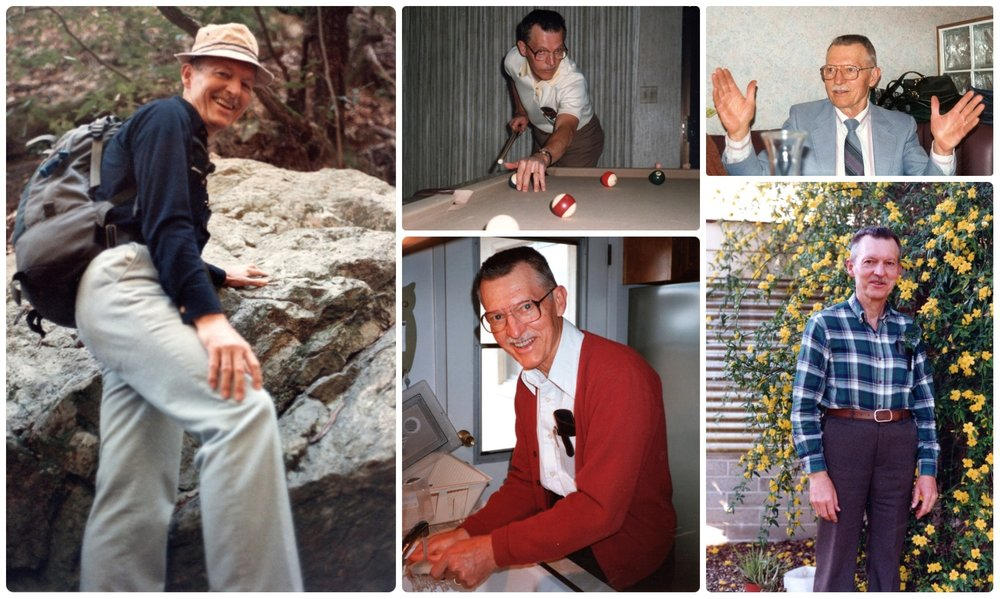 These images capture the essence my Grandpa. He was adventurous and hiked until he no longer could. He was always up for a game (or giving a lesson) of pool. He was a wise and educated man and when he spoke his personality shone through. His garden was his pride and joy; they grew everything from nuts and veggies to fruits.