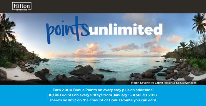 Hilton Honors Hotel Points Unlimited Promotion Mattress Run Award Travel