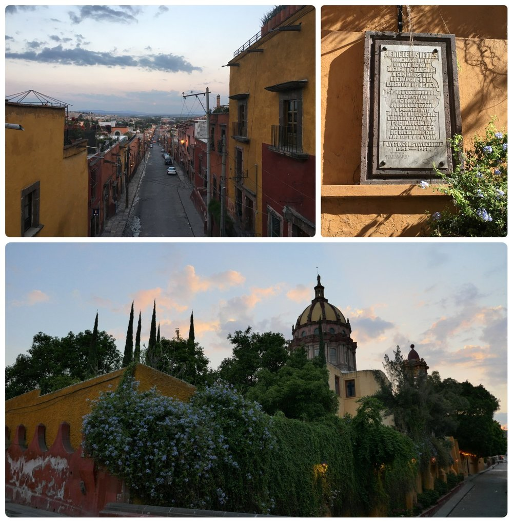 Puente de los Héroes in San Miguel de Allende, Mexico. The view from the bridge was gorgeous, whether seen at sunrise or throughout the day!