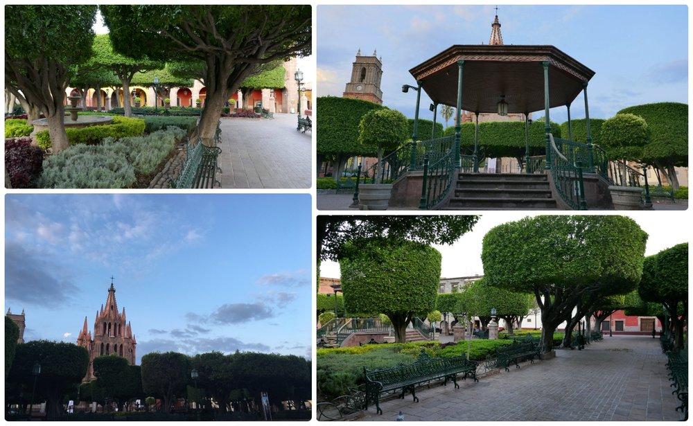 El Jardin is the center of San Miguel de Allende, Mexico, both by location and events.