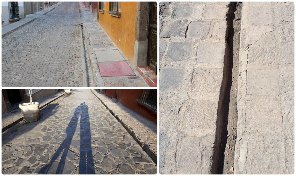 Cobblestone streets add a ton of charm to San Miguel de Allende, Mexico, but they do require a steady balance and comfortable shoes!